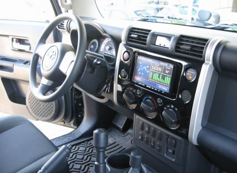 Toyota FJ Cruiser. Car Cinema Navigation Kenwood DNX8220-CCD2000.