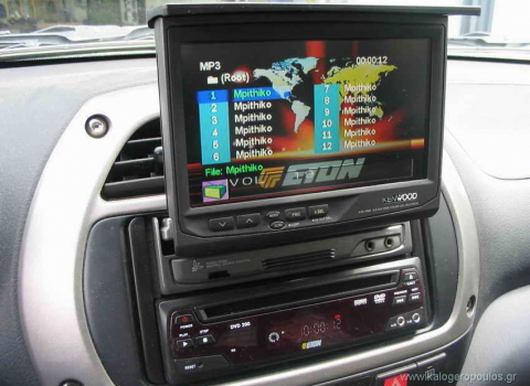 Toyota Rav 4. Car Cinema Kenwood KVC-1000 & DVD Eton.