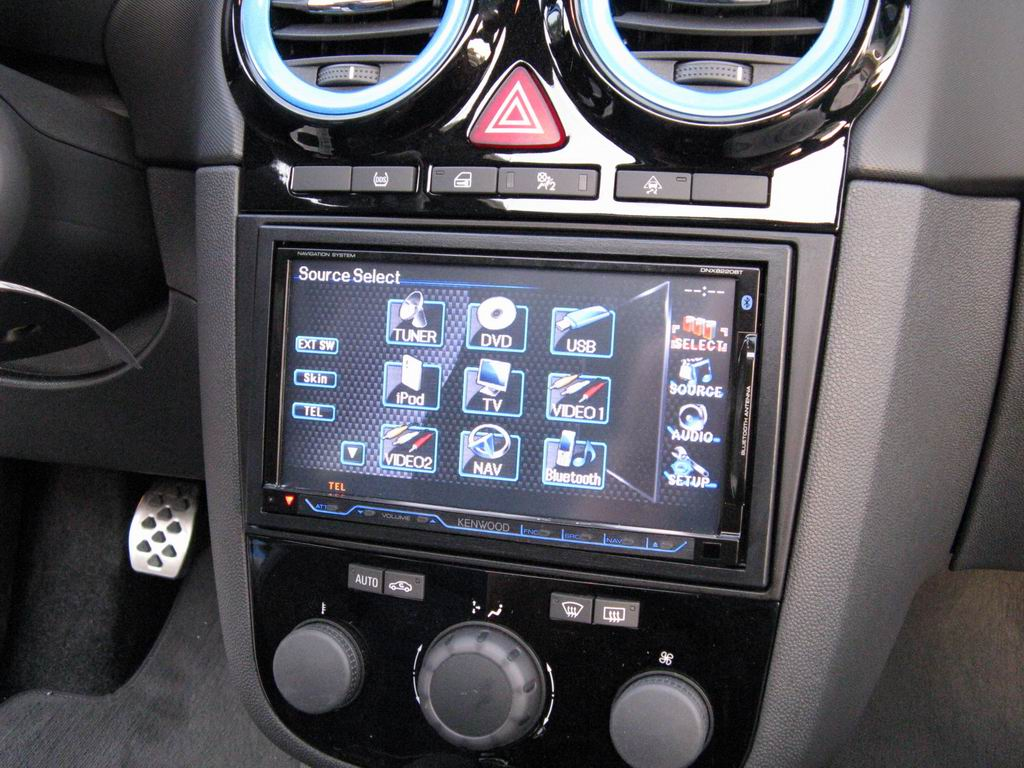 opel corsa opc car cinema navigation kenwood dnx8220bt. Black Bedroom Furniture Sets. Home Design Ideas