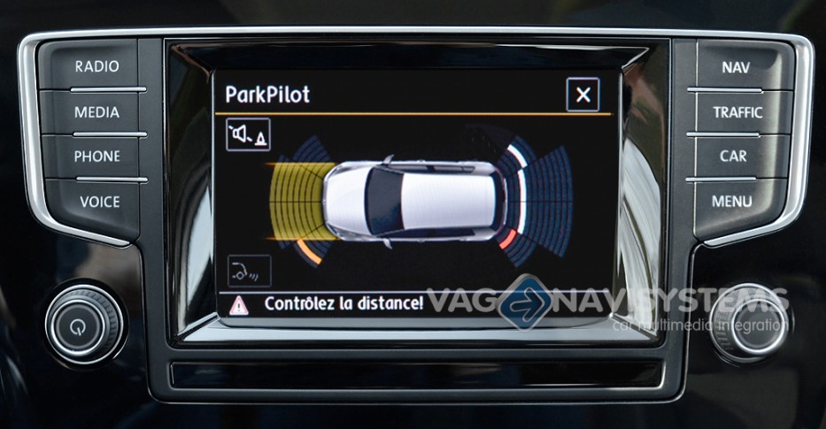 parking sensor: parking distance control pdc with ops - front + rear